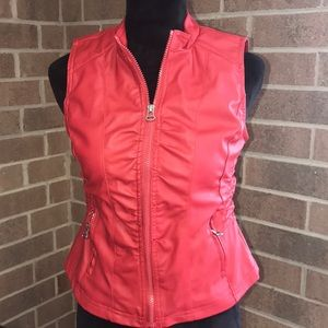 Women's Faux Leather Vest
